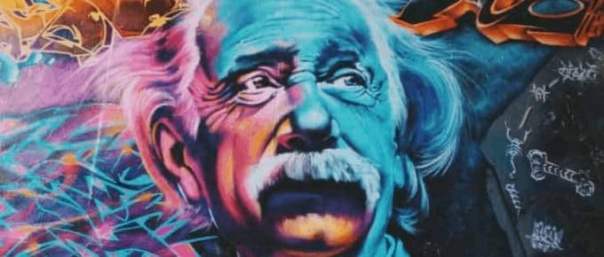 grafiti of einstein