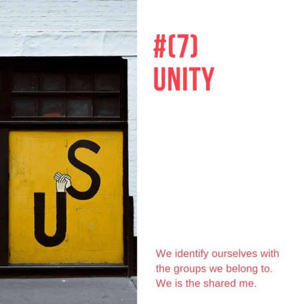 persuasive techniques number 7 the unity principle