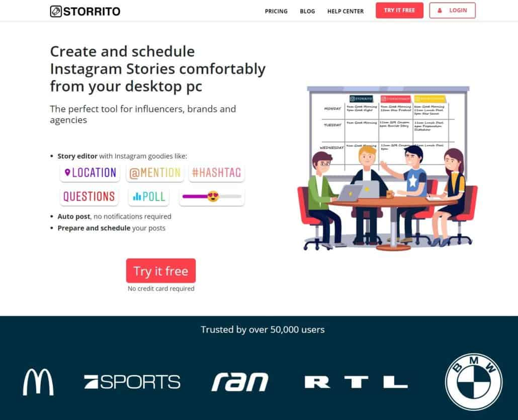screenshot of a landingpage of my client where I used this technique