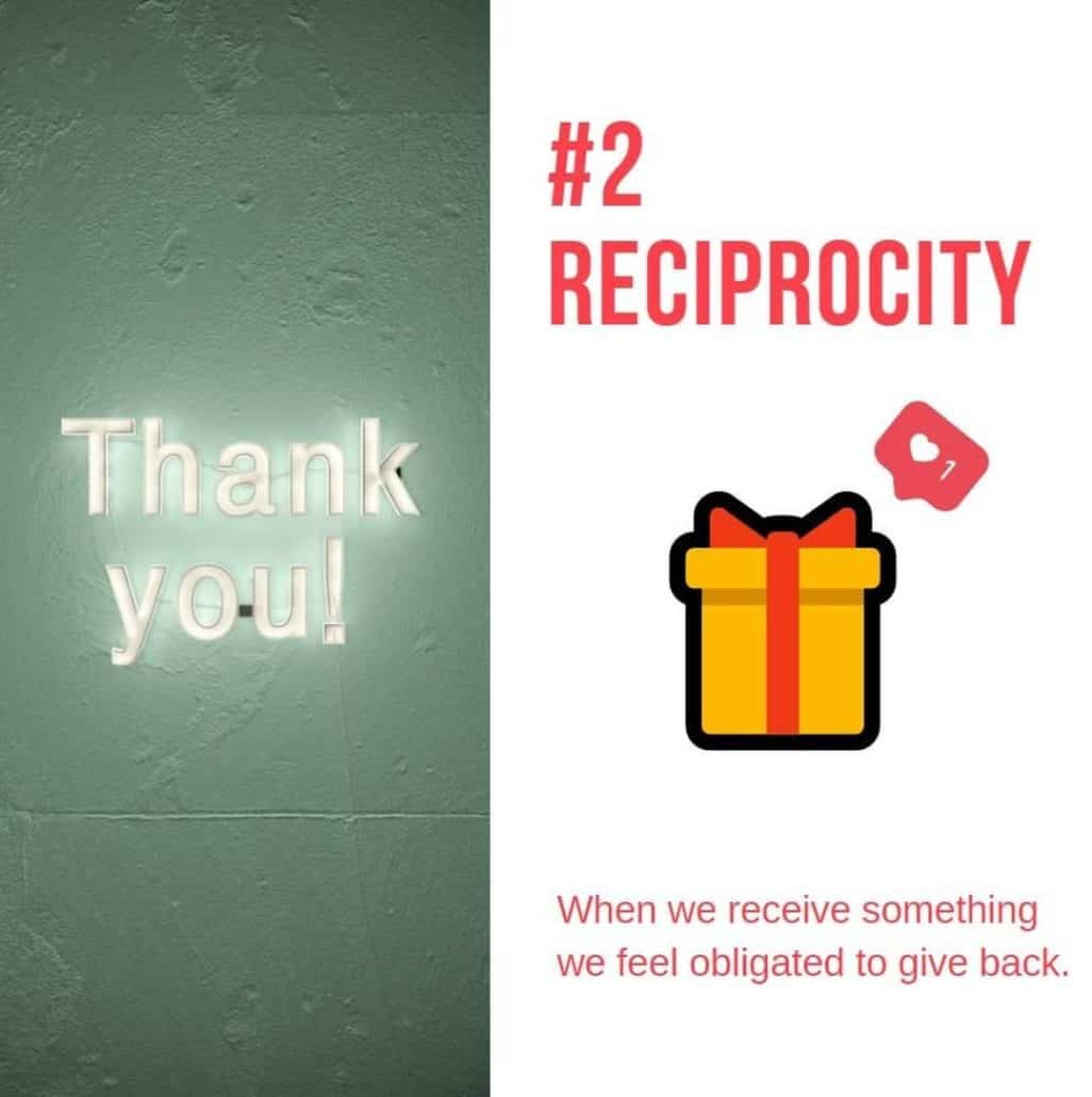 persuasion principle 2: reciprocity - image of a present