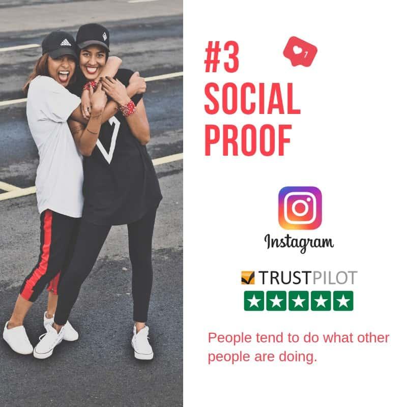 two girls hugging persuasive technique # 3