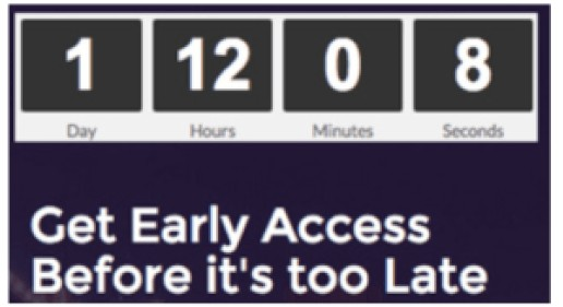 image of a count down timer to visualize scarcity